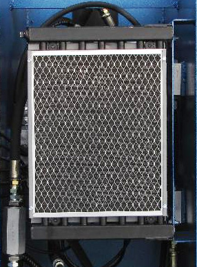 Hydraulic cooling radiator on a C Frame press