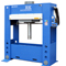 This 300 ton H frame Hydraulic press has a moveable workhead